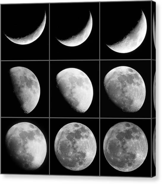 Moon Progression Canvas Print