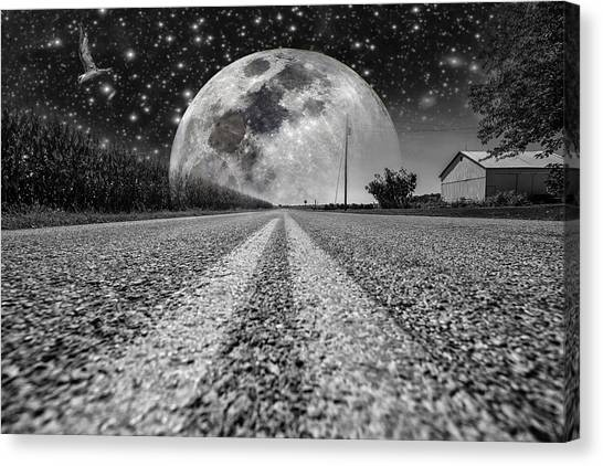 Moon Rise Country  Canvas Print