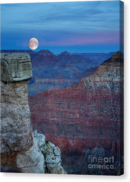 Moon Rise Grand Canyon Canvas Print
