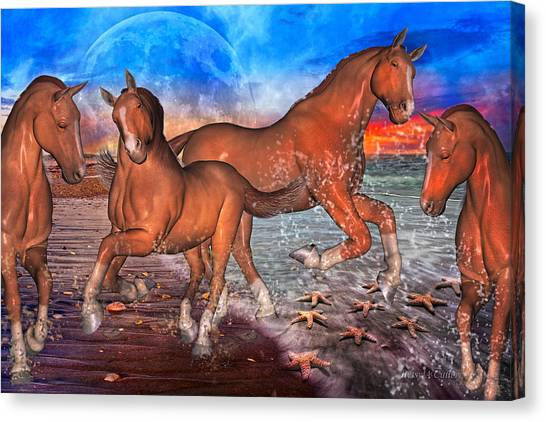 Fun Run Canvas Print - Moon Rise Splendor by Betsy Knapp