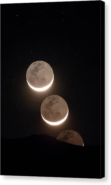 Atacama Desert Canvas Print - Moon Rising Of The Atacama Desert by Babak Tafreshi