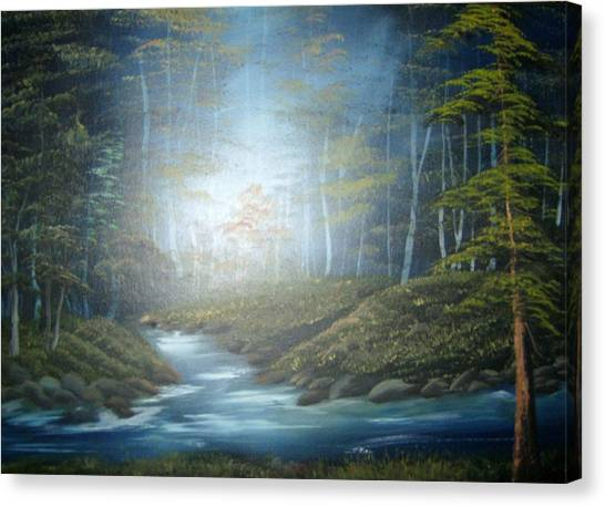 Moon River Mystery Canvas Print
