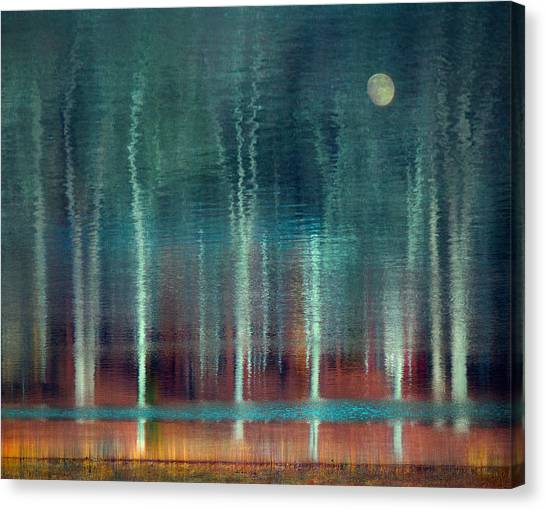 Moon River Canvas Print by William Schmid