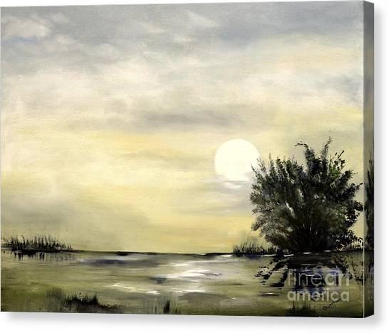 Moon Shadow Canvas Print