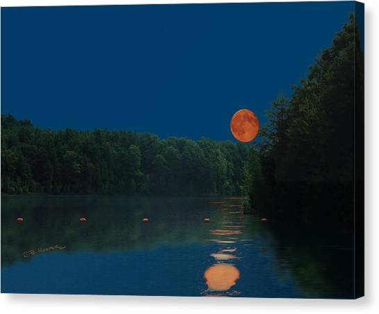Canvas Print featuring the photograph Moon Shot by R B Harper