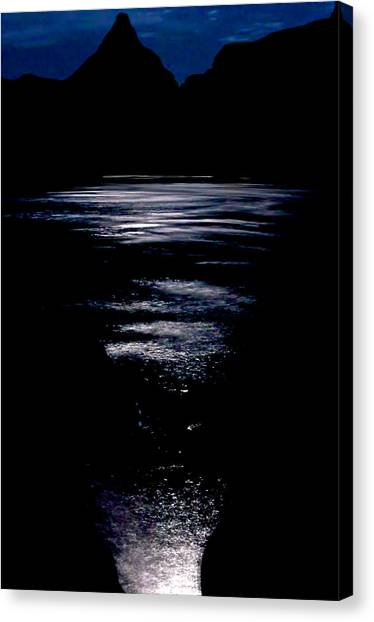 Moon Water Canvas Print