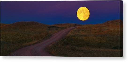Moon Way Canvas Print
