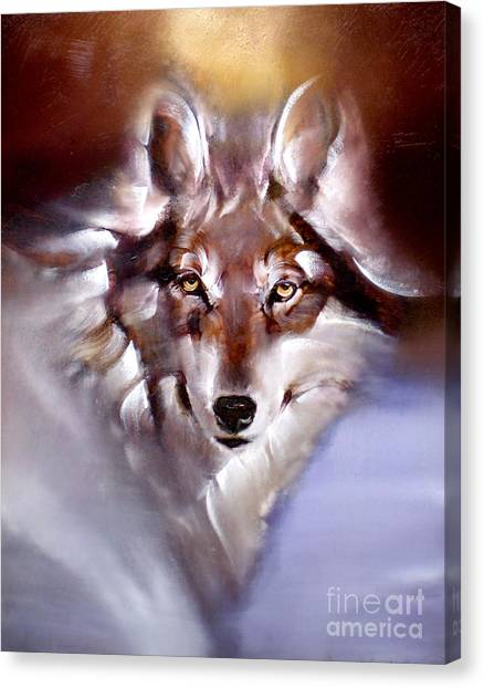Moon Wolf Canvas Print