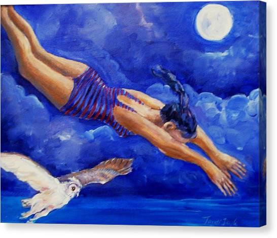 Moonbather  Canvas Print