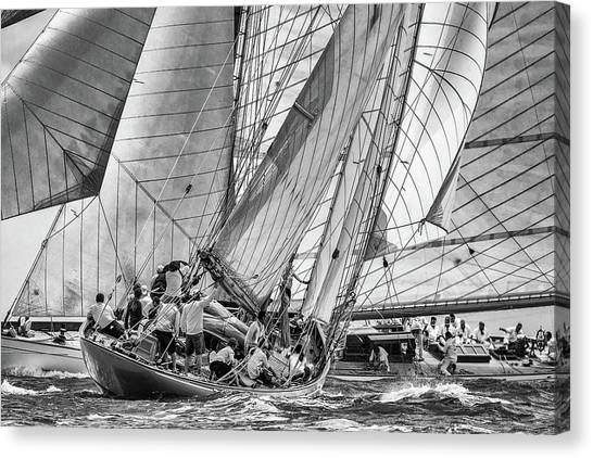 Yacht Canvas Print - Moonbeams Crossing by Marc Pelissier