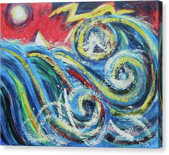 Moonlight And Chaos Canvas Print