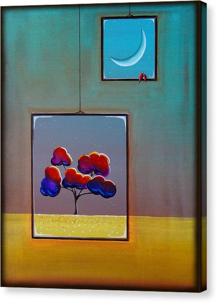 Window Canvas Print - Moonlight by Cindy Thornton