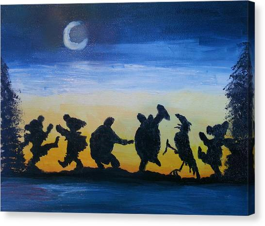 Grateful Dead Canvas Print - Moonlight Dance by Barbara Cole