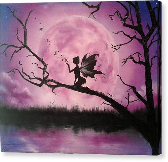Limelight Canvas Print - Moonlight Fairy by Ira Florou
