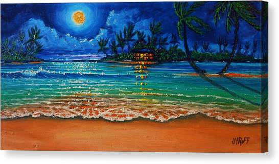 Moonlight Lagoon Canvas Print