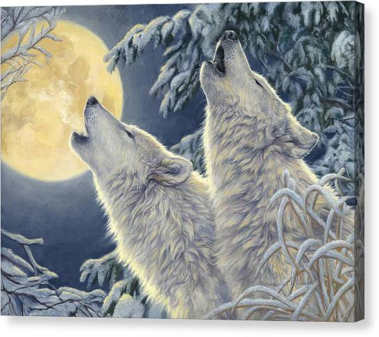 Moon Canvas Print - Moonlight by Lucie Bilodeau