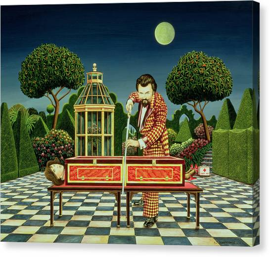 Saws Canvas Print - Moonlight Magician, 1979  by Anthony Southcombe