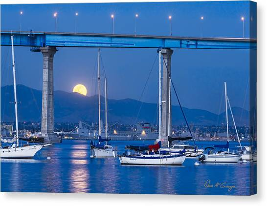 Moonlight Mooring Canvas Print