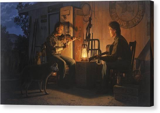 Moonlight Musicians Canvas Print