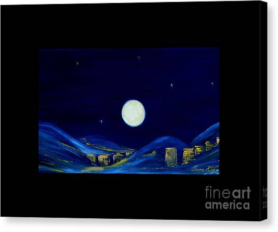 Moonlight. Winter Collection Canvas Print