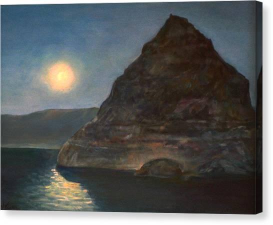 Moonlight On Pyramid Lake Canvas Print