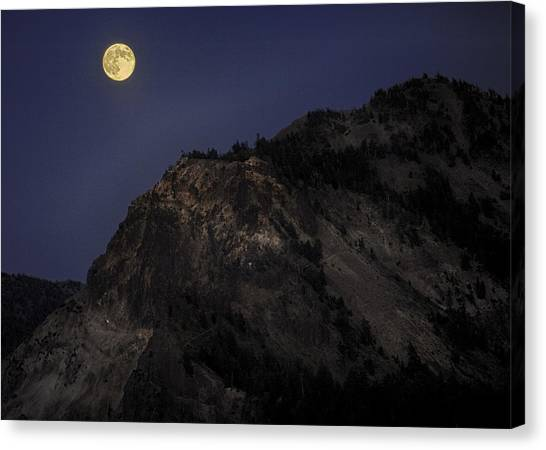 Moonlight On The Crater Rim Canvas Print
