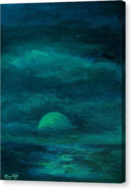 Moonlight On The Water Canvas Print