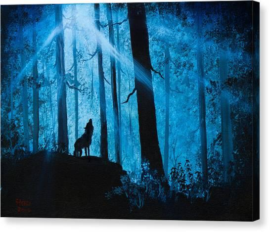 Bob Ross Canvas Print - Moonlight Serenade by Chris Steele
