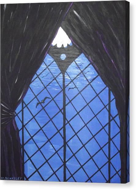 Moonlight Through The Window Canvas Print