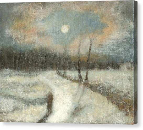 Moonlight Walk Home Canvas Print