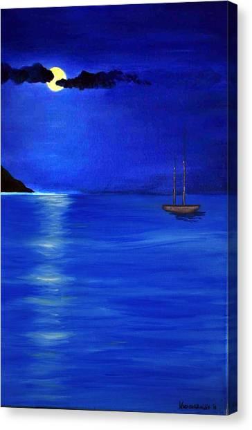 Moonligth Canvas Print by Kostas Koutsoukanidis