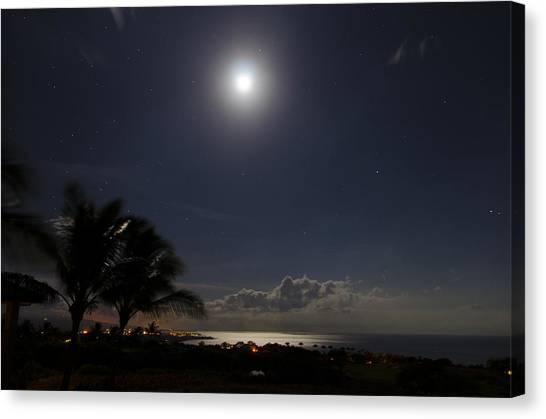 Moonlit Bay Canvas Print