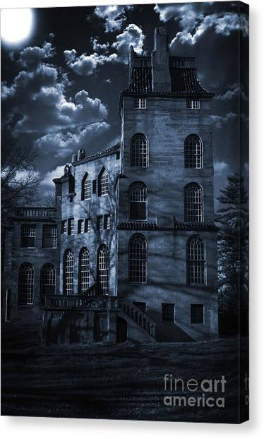 Moonlit Fonthill Canvas Print