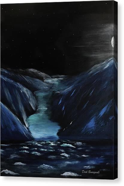 Moonlit Glacier Canvas Print