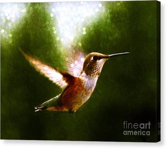 Moonlit Iridescence  Canvas Print
