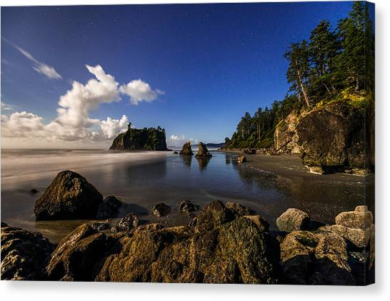 Olympic National Park Canvas Print - Moonlit Ruby by Chad Dutson