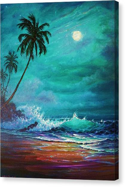Moonlite Serenade Canvas Print by Joseph   Ruff