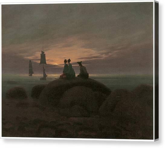 Moonrise At The Sea Canvas Print by Caspar David Friedrich