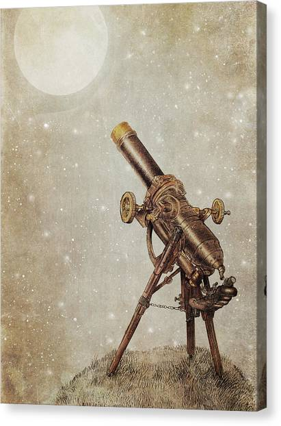 Moon Canvas Print - Moonrise by Eric Fan