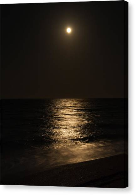 Moon Over Water Canvas Print