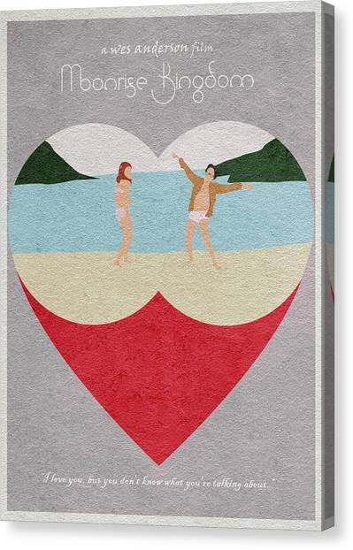 Hearts Canvas Print - Moonrise Kingdom by Inspirowl Design