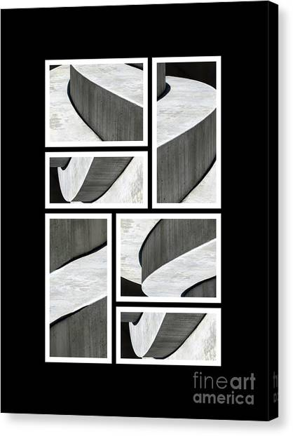 Moonscapes. Abstract Photo Collage 01 Canvas Print