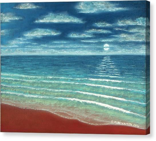 Moonset C Canvas Print