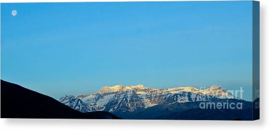 Moonset Over Timpanogos Canvas Print