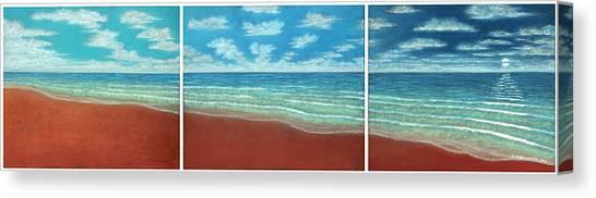 Moonset Triptych Canvas Print