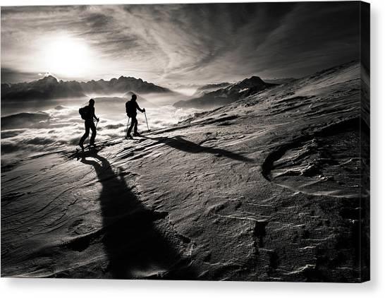 Alps Canvas Print - Moonwalkers by Sandi Bertoncelj