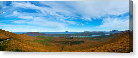 Moorland Canvas Print - Moor Landscape Of Coomanaspig Pass by Panoramic Images