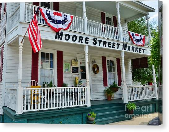 Moore Street Market Canvas Print