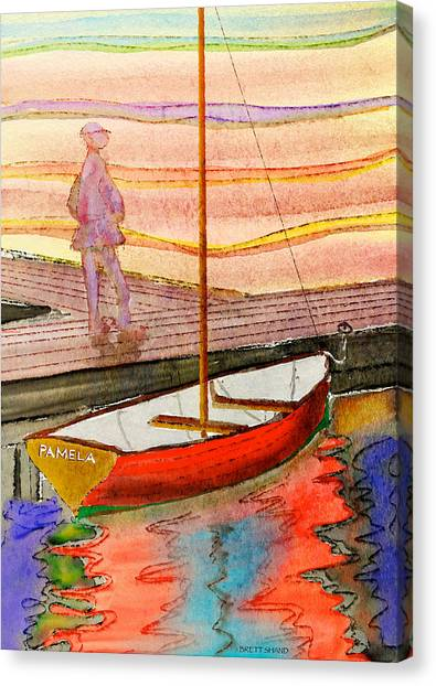 Moored Dinghy Canvas Print