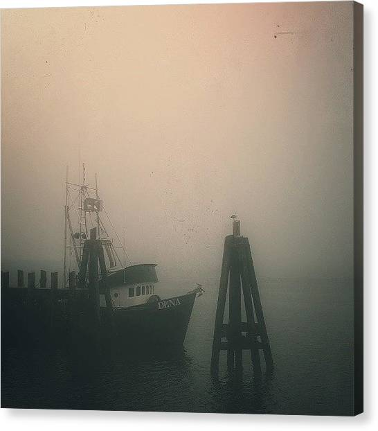 Fishing Canvas Print - Moored II by CML Brown